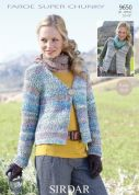 Sirdar Ladies Jacket & Waistcoat Faroe Knitting Pattern 9650  Super Chunky