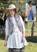 Sirdar Ladies & Girls Waistcoat & Jacket Knitting Pattern 9660  Chunky