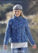 Sirdar Ladies Sweater Knitting Pattern 9667  Super Chunky