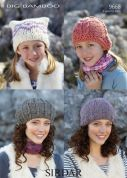Sirdar Ladies & Girls Hats Knitting Pattern 9668  Super Chunky