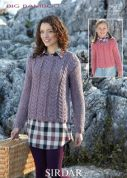Sirdar Ladies & Girls Sweaters Knitting Pattern 9672  Super Chunky