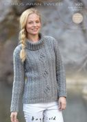 Hayfield Ladies Sweater Bonus Knitting Pattern 9685  Aran