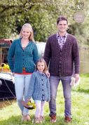 Hayfield Family Cardigans Bonus Knitting Pattern 9695  Aran