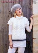 Hayfield Ladies Top With Wool Knitting Pattern 9697  Chunky