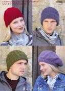 Hayfield Ladies & Mens Hats With Wool Knitting Pattern 9698  Chunky
