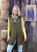 Hayfield Ladies Cardigan & Waistcoat With Wool Knitting Pattern 9699  Chunky