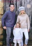 Hayfield Family Sweaters With Wool Knitting Pattern 9701  Chunky