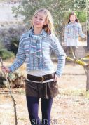 Sirdar Ladies & Girls Cardigan with Scarf Crofter Knitting Pattern 9706  DK