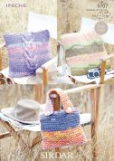 Sirdar Home Cushions & Bag Indie Knitting Pattern 9707  Super Chunky