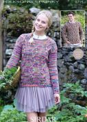 Sirdar Ladies & Mens Sweaters Knitting Pattern 9715  Chunky