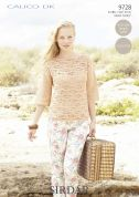 Sirdar Ladies Top Calico Crochet Pattern 9728  DK