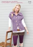 Hayfield Ladies Waistcoat With Wool Knitting Pattern 9749  Super Chunky