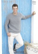 Sirdar Mens Sweater Click Knitting Pattern 9765  DK