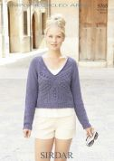 Sirdar Ladies Sweater Knitting Pattern 9768  Aran