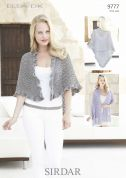 Sirdar Ladies Wrap & Shawl Ella Knitting Pattern 9777  DK