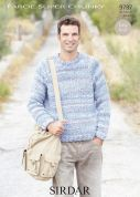 Sirdar Mens Sweater Faroe Knitting Pattern 9787  Super Chunky