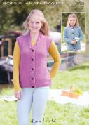Hayfield Ladies & Girls Jacket & Waistcoat Bonus Knitting Pattern 9788  Aran