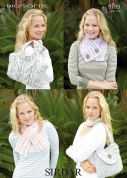 Sirdar Ladies Bags & Scarves Big Softie Knitting Pattern 9789  Super Chunky