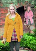 Hayfield Ladies Coats Bonus Knitting Pattern 9794  Aran