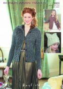 Hayfield Ladies & Girls Cardigans & Hat Bonus Knitting Pattern 9800  Aran