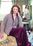 Hayfield Ladies Cardigan & Skirt Bonus Knitting Pattern 9802  Aran