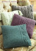 Hayfield Home Cushions Bonus Knitting Pattern 9804  Aran