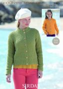 Sirdar Ladies & Girls Jackets Country Style Knitting Pattern 9809  DK