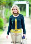 Sirdar Ladies Jacket Country Style Crochet Pattern 9812  4 Ply