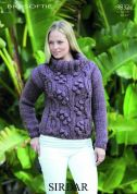 Sirdar Ladies Sweater Big Softie Knitting Pattern 9832  Super Chunky