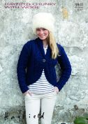 Hayfield Ladies Jacket With Wool Knitting Pattern 9840  Chunky