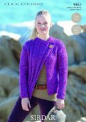 Sirdar Ladies Jacket Click Knitting Pattern 9862  Chunky