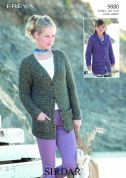 Sirdar Ladies & Girls Cardigans Freya Knitting Pattern 9880  Chunky