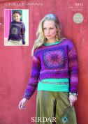 Sirdar Ladies & Girls Sweater & Hoodie Giselle Knitting & Crochet Pattern 9895  Aran
