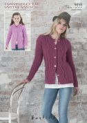 Hayfield Ladies & Girls Cardigans With Wool Knitting Pattern 9898  DK