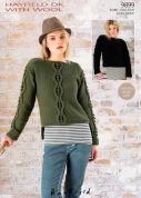 Hayfield Ladies Sweaters With Wool Knitting Pattern 9899  DK