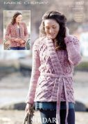 Sirdar Ladies Cardigans Faroe Knitting Pattern 9907  Chunky