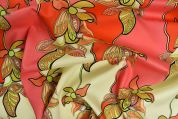 Storrs London Egyptian Cotton Lawn Fabric  Coral