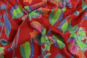 Storrs London Egyptian Cotton Lawn Fabric  Red