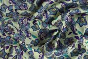 Storrs London Egyptian Cotton Lawn Fabric  Purple