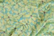 Storrs London Egyptian Cotton Lawn Fabric  Aqua