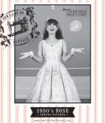 Sew La Di Da Vintage Ladies Sewing Pattern Vintage Style Rose Dress