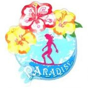 Paradise Patch Motif  Multicoloured