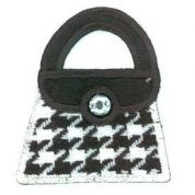 Handbag Patch Motif  Black & White