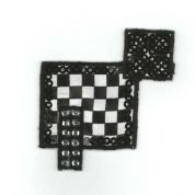 Geometric Patch Motif  Black & White