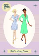 Sew Over It Ladies Sewing Pattern Vintage Style 1940's Wrap Dress