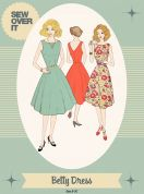 Sew Over It Ladies Sewing Pattern 1950's Vintage Style Betty Dress