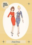 Sew Over It Ladies Sewing Pattern 1960's Vintage Style Joan Dress