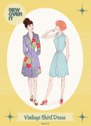 Sew Over It Ladies Sewing Pattern Vintage Style Shirt Dress