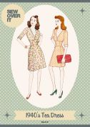 Sew Over It Ladies Sewing Pattern 1940's Vintage Style Tea Dress