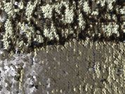 Sorrento Matte Sequinned Tulle Lace Dress Fabric  Gold